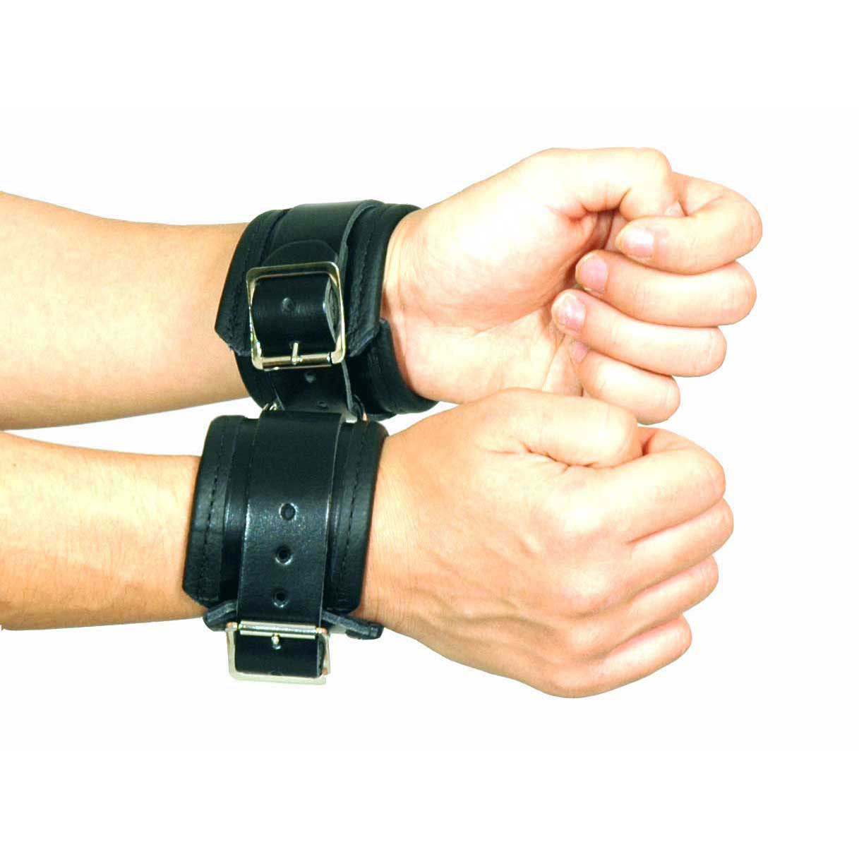 CUF 1-2 - Pair of Leather Wrist Cuffs